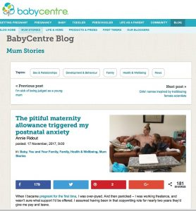 The pitiful maternity allowance triggered my postnatal anxiety