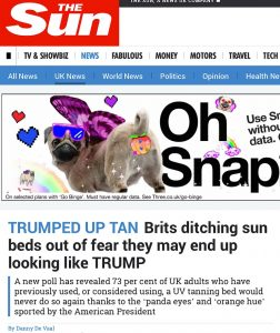 TRUMPED UP TAN Brits ditching sun beds out of fear they may end up looking like TRUMP