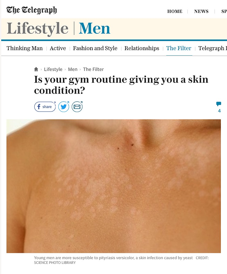 Is your gym routine giving you a skin condition?